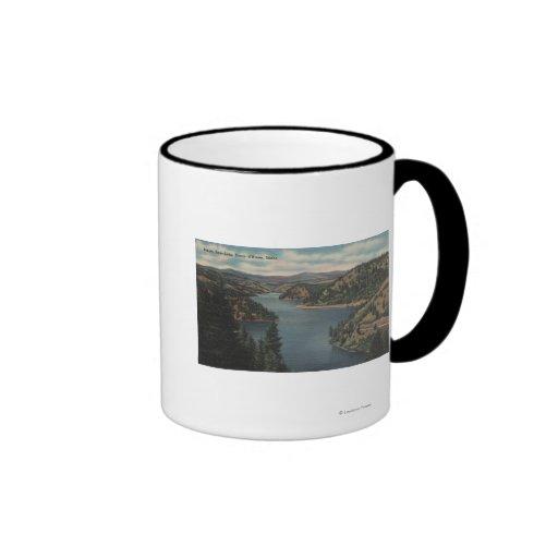 Coeur d'Alene, ID - View of Beauty Bay Mugs