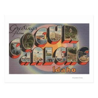 Coeur d'Alene, Idaho - Large Letter Scenes Postcard