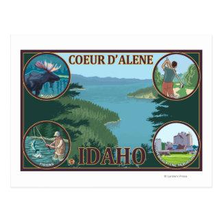 Coeur D'Alene, IdahoScenic Travel Poster Postcards