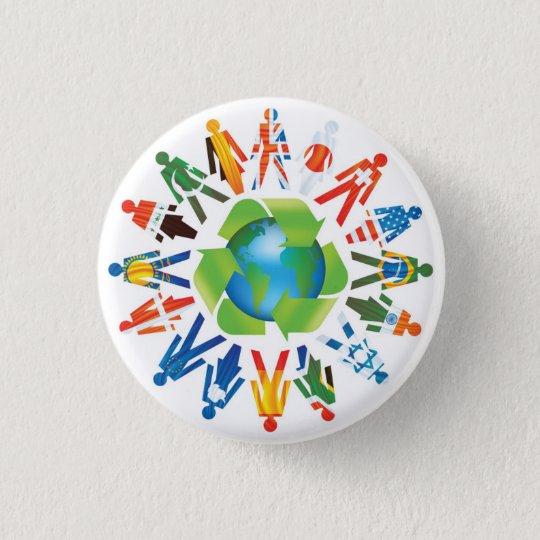 Coexist 3 Cm Round Badge