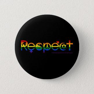 Coexist with Respect Gay Pride 6 Cm Round Badge