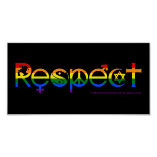 Coexist with Respect Gay Pride Poster