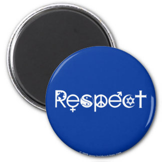 Coexist with Respect - Peace Kindness & Tolerance 6 Cm Round Magnet