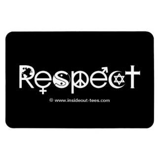 Coexist with Respect - Peace Kindness & Tolerance Rectangular Photo Magnet