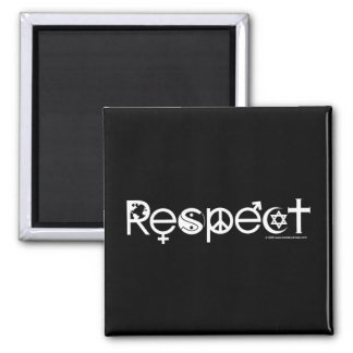 Coexist with Respect - Peace Kindness & Tolerance Square Magnet