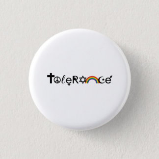 COEXIST WITH TOLERANCE 3 CM ROUND BADGE