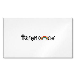 COEXIST WITH TOLERANCE MAGNETIC BUSINESS CARDS