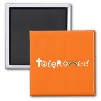 COEXIST WITH TOLERANCE SQUARE MAGNET