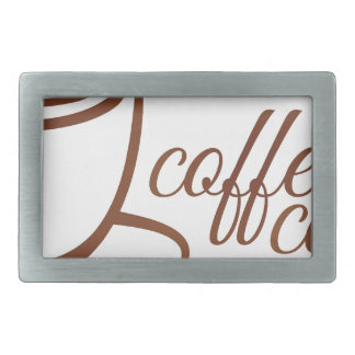 Coffe Cup Cafe Concept Belt Buckles
