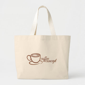 Coffe Cup Cafe Concept Large Tote Bag