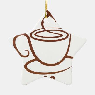 Coffe Cup Concept Ceramic Star Decoration