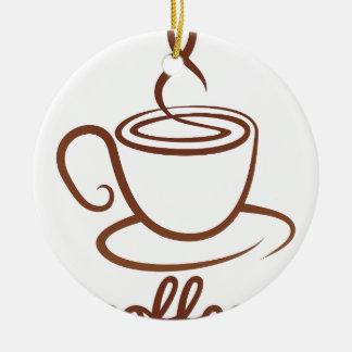 Coffe Cup Concept Round Ceramic Decoration