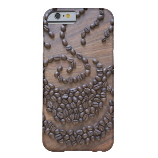 Coffe cup illustrated using coffee beans barely there iPhone 6 case