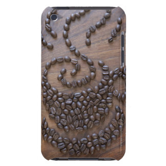 Coffe cup illustrated using coffee beans iPod touch cover