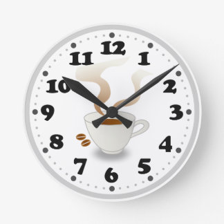 Coffe | Cute Kitchen Gifts Round Clock