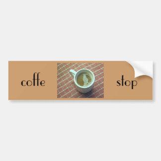 Coffe stop bumper sticker