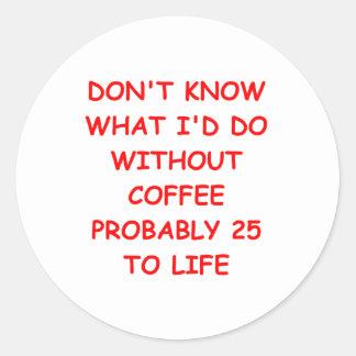 COFFEE2.png Round Sticker