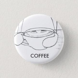 Coffee 2.0 3 cm round badge