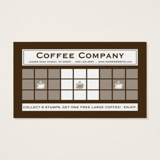 COFFEE 3dots Loyalty Program Business Card