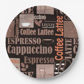 Coffee 9 Inch Paper Plate
