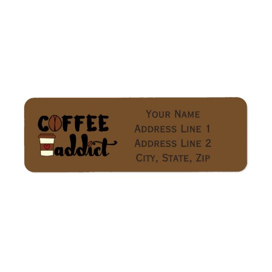 Coffee Addict II - Personalise Return Address Label