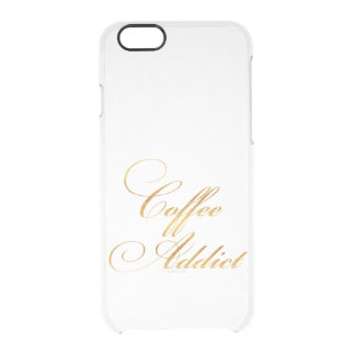 Coffee Addict Quote Gold Faux Foil Quotes Sparkly iPhone 6 Plus Case