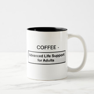 COFFEE - ADVANCE LIFE SUPPORT FOR ADULTS Two-Tone MUG