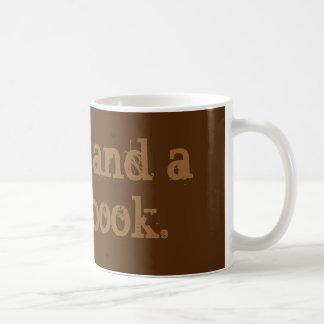 'Coffee and a good book' mug. Basic White Mug