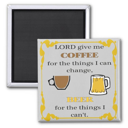 Coffee and Beer Magnet