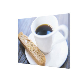 Coffee and Biscotti Canvas Print