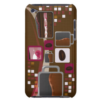Coffee and Cake iTouch Case Brown iPod Case-Mate Cases