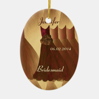 COFFEE and CHOCOLATE  Bridesmaid Thank You Wedding Ceramic Oval Decoration