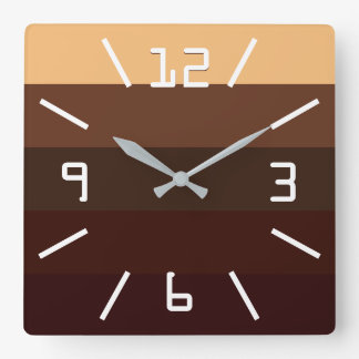 Coffee and Chocolate Square Wall Clock