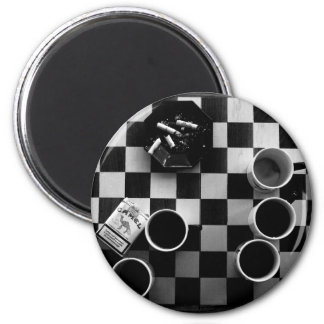 coffee and cigarettes 6 cm round magnet