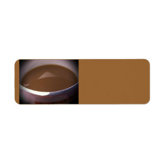 Coffee and Cream Avery Label Return Address Label