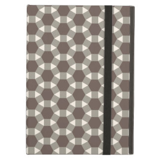 Coffee and Cream Geometric Tessellation Pattern Case For iPad Air