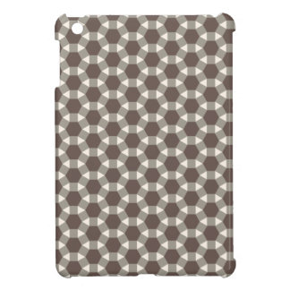 Coffee and Cream Geometric Tessellation Pattern iPad Mini Cover