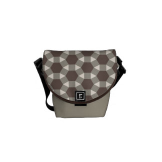 Coffee and Cream Geometric Tessellation Pattern Courier Bag