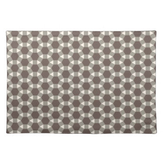 Coffee and Cream Geometric Tessellation Pattern Placemat