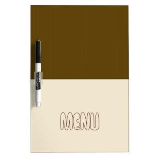 Coffee And Cream Menu Block Art Dry Erase Board