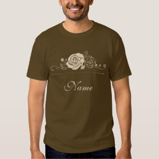 Coffee and Cream Roses Coordinating Gifts Shirts