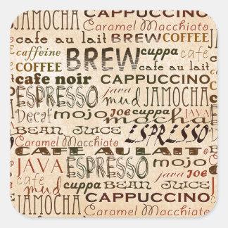 Coffee And Cream Square Sticker