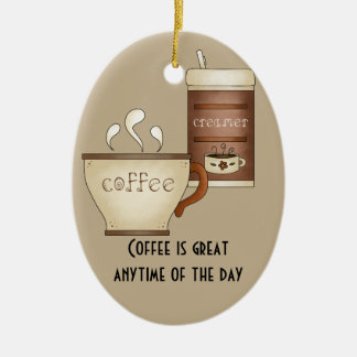 Coffee and Creamer Christmas Ornament