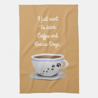 Coffee and Dogs Kitchen Towel