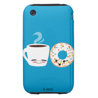 Coffee and Doughnut Pals Tough iPhone 3 Cases