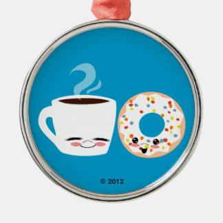 Coffee and Doughnut Pals Christmas Ornament