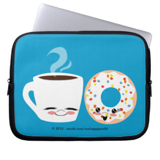 Coffee and Doughnut Pals Computer Sleeve