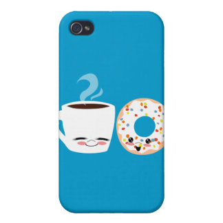 Coffee and Doughnut Pals iPhone 4 Covers