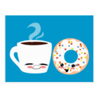 Coffee and Doughnut Pals Postcard