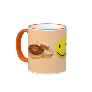 Coffee and doughnuts. ringer mug